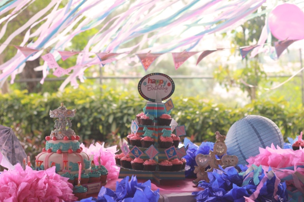 cuckoo cloud concepts kiddie party carousel party pink and blue 01 (2)