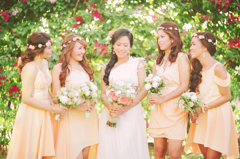 cuckoo cloud concepts shea and cheeky rustic chic cebu wedding stylist beach wedding peach and green 13
