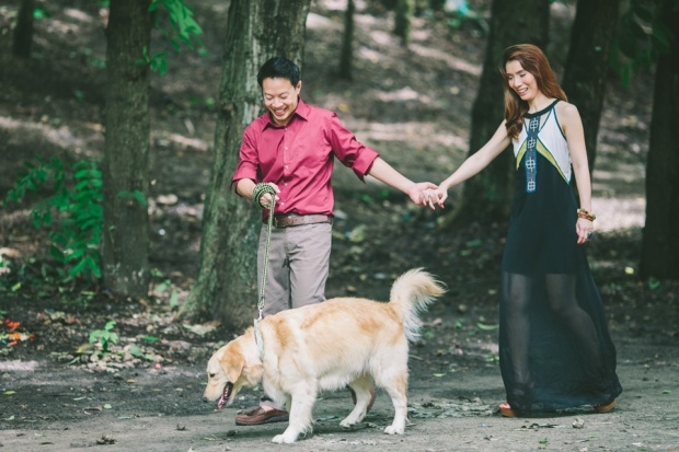 cuckoo cloud concepts mark and franz yellow golden retriever dog lovers engagement session cebu wedding stylist wardrobe styling 15