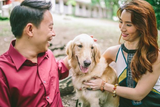 cuckoo cloud concepts mark and franz yellow golden retriever dog lovers engagement session cebu wedding stylist wardrobe styling 10