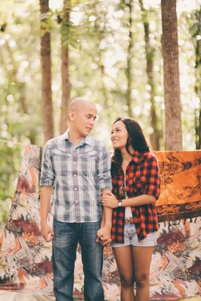 cuckoo cloud concepts james and liane engagement session camping americana-inspired outdoors plaid cebu wedding stylist