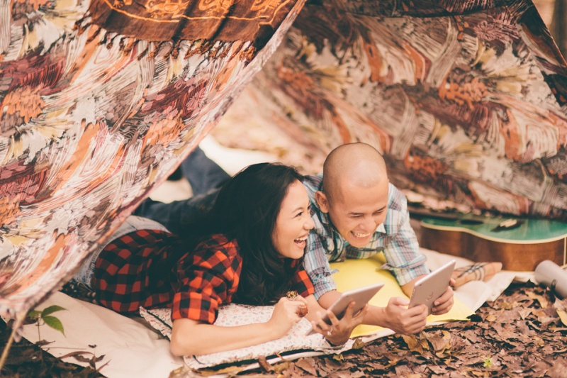 cuckoo cloud concepts james and liane engagement session camping americana-inspired outdoors plaid cebu wedding stylist 25