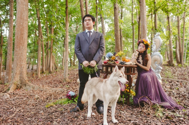 cuckoo cloud concepts andrew and iris engagement session enchanted forest whimsical woodland prenup cebu wedding stylist 19