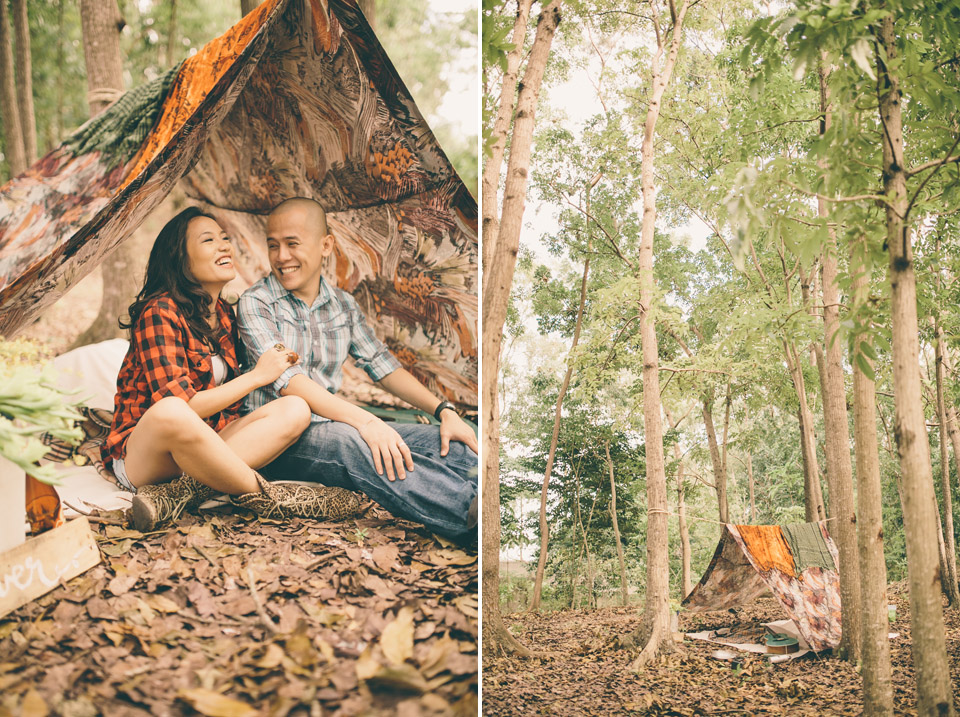 cuckoo cloud concepts james and liane engagement session camping americana-inspired outdoors plaid cebu wedding stylist 10