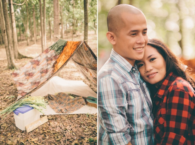 cuckoo cloud concepts james and liane engagement session camping americana-inspired outdoors plaid cebu wedding stylist 06