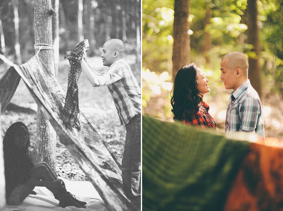 cuckoo cloud concepts james and liane engagement session camping americana-inspired outdoors plaid cebu wedding stylist 15