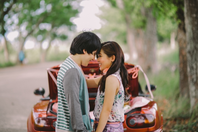 Cuckoo Cloud Concepts Alan and Mai Engagement Session Roadtrip Danao Red Convertible Cebu Wedding Stylist -1