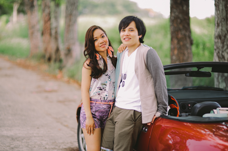 Cuckoo Cloud Concepts Alan and Mai Engagement Session Roadtrip Danao Red Convertible Cebu Wedding Stylist -2