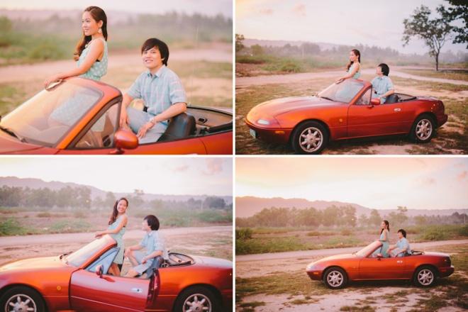 Cuckoo Cloud Concepts Alan and Mai Engagement Session Roadtrip Danao Red Convertible Cebu Wedding Stylist -27