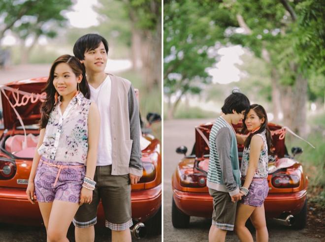 Cuckoo Cloud Concepts Alan and Mai Engagement Session Roadtrip Danao Red Convertible Cebu Wedding Stylist -32