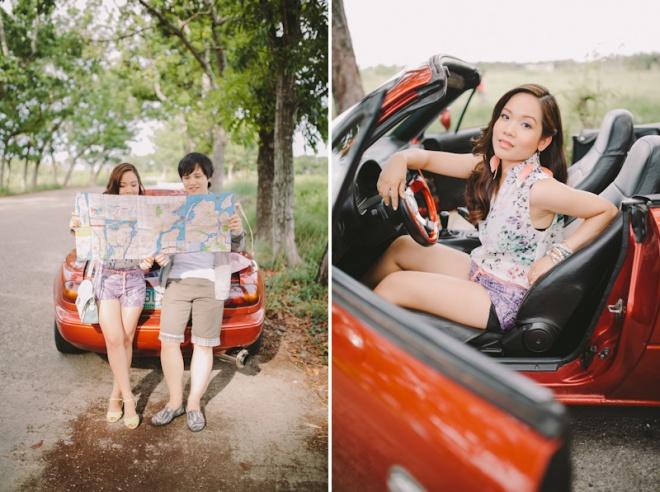 Cuckoo Cloud Concepts Alan and Mai Engagement Session Roadtrip Danao Red Convertible Cebu Wedding Stylist -36