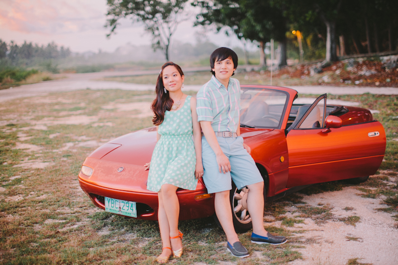 Cuckoo Cloud Concepts Alan and Mai Engagement Session Roadtrip Danao Red Convertible Cebu Wedding Stylist -4
