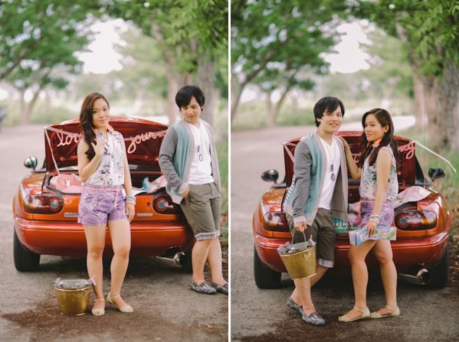 Cuckoo Cloud Concepts Alan and Mai Engagement Session Roadtrip Danao Red Convertible Cebu Wedding Stylist -40