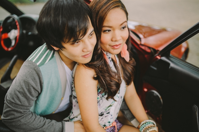 Cuckoo Cloud Concepts Alan and Mai Engagement Session Roadtrip Danao Red Convertible Cebu Wedding Stylist -8