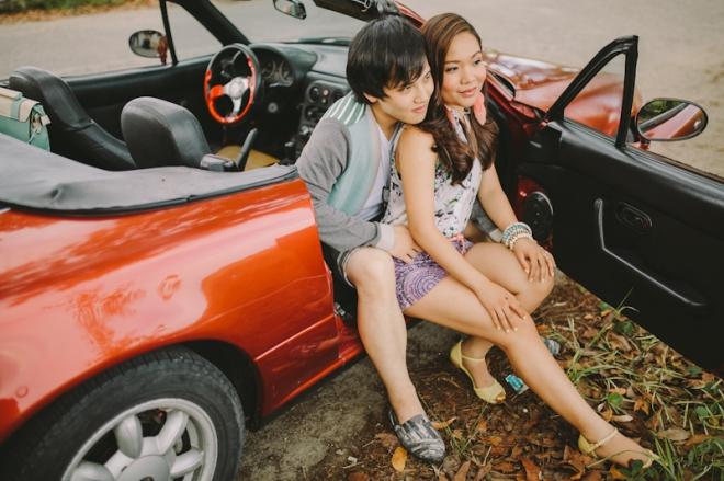 Cuckoo Cloud Concepts Alan and Mai Engagement Session Roadtrip Danao Red Convertible Cebu Wedding Stylist -9