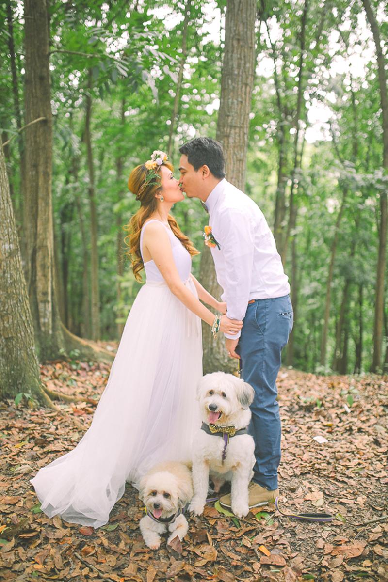 Cuckoo Cloud Concepts Ricci and Laiza Elopement Forest Dogs Bohemian Secret Wedding Cebu Wedding Stylist_30