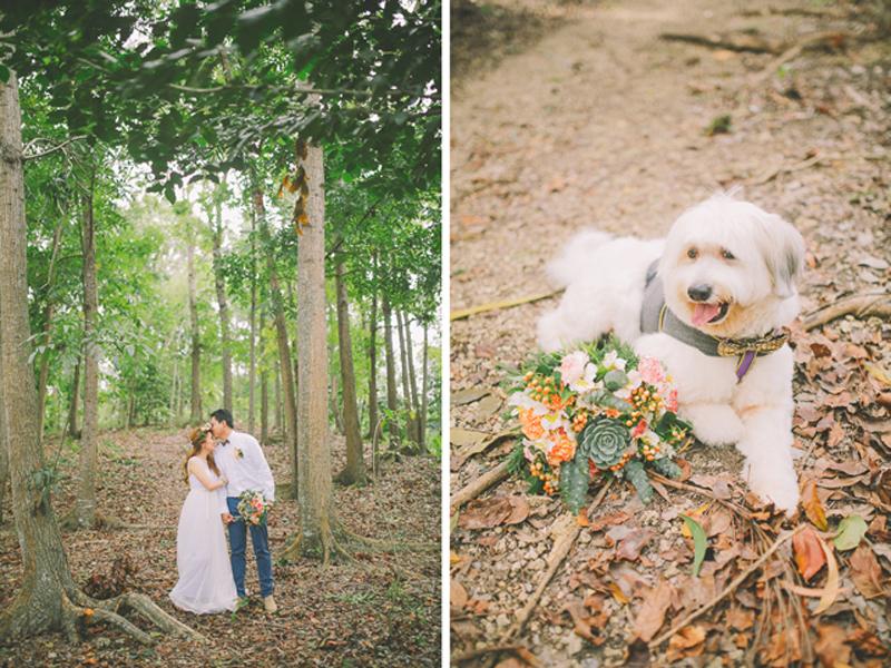 Cuckoo Cloud Concepts Ricci and Laiza Elopement Forest Dogs Bohemian Secret Wedding Cebu Wedding Stylist_33