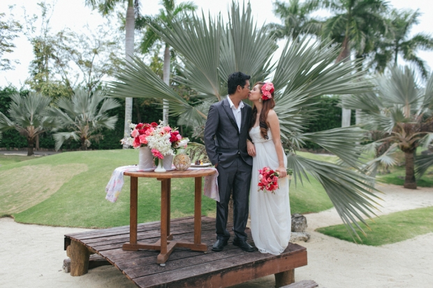 Cuckoo Cloud Concepts Allen Junez Engagement Session Bright Florals Tropical Plantation Bay-3