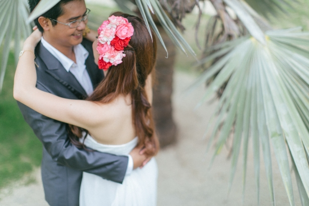Cuckoo Cloud Concepts Allen Junez Engagement Session Bright Florals Tropical Plantation Bay-8