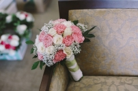 Romantic Pink Bouquet for Chiggz's Vintage-Inspired Wedding // photo by Macky Carcedo