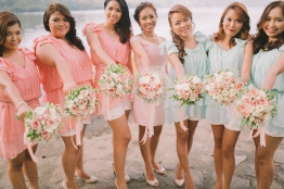 Pink & Mint Green Bouquet for JR & Zaidel's Entourage // photo by Air Balloon Project