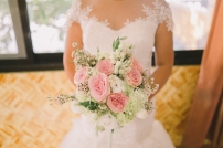 Romantic Pink & Mint Green Bouquet for Zaidel's Lake Wedding // photo by Air Balloon Project