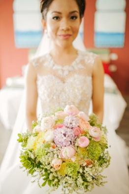 Romantic Pastel Bouquet for Charmaine's Resort Wedding // photo by Marlon Capuyan Photography