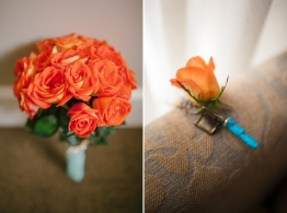 Tangerine Bouquet for April's Modern Wedding // photo by Marlon Capuyan Photography