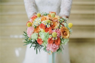 Bright & Colorful Bouquet for Geh's Polka Wedding // photo by Salt and Bleach It   Jeff Garban