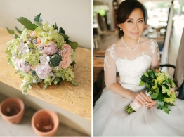 Pastel Bouquet for Kritie's Elegant Rustic Wedding // photo by Marlon Capuyan Photography // photo by Marlon