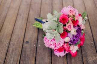 Shades of Pink & Purple for Carissa's Nautical-Themed Wedding