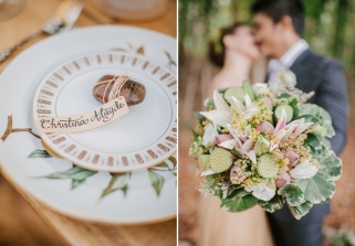 Neutrals Hand-Tied Bouquet for Once Upon A Time Editorial // photo by Marlon Capuyan Photography