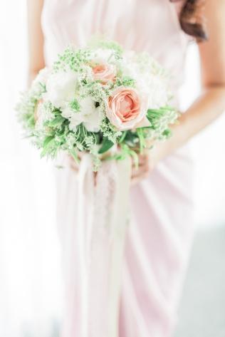 Bridesmaid's Blush Bouquet   photo by Rock Paper Scissors Photography