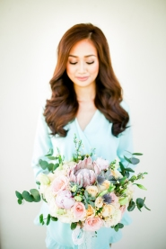 Boho Chic Pastel Bouquet for Iza's Beach Wedding | photo by Blinkbox Photos