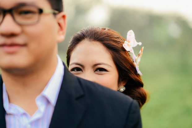 cuckoo cloud concepts david and jaja enchanted engagement session wooden swing lush greens pink flowers-18