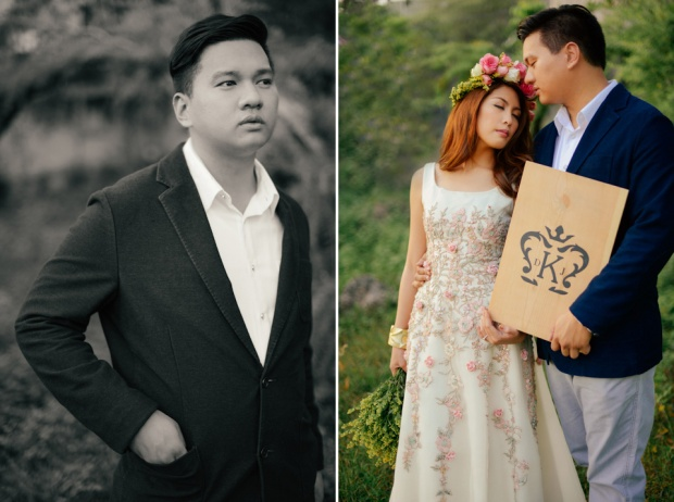 cuckoo cloud concepts david and jaja enchanted engagement session wooden swing lush greens pink flowers-33
