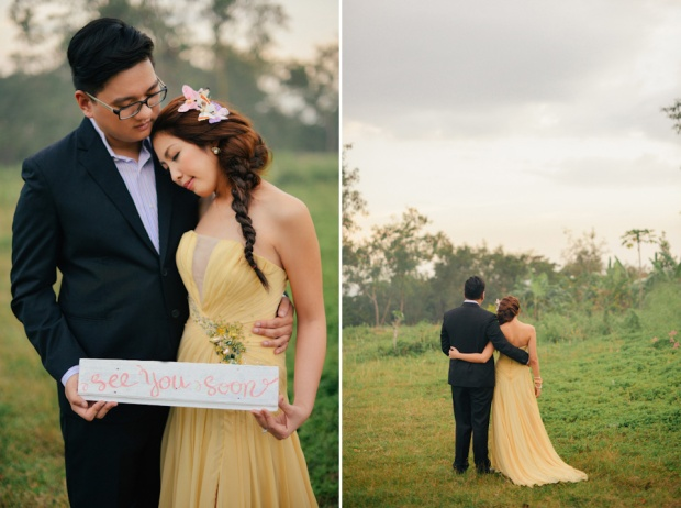 cuckoo cloud concepts david and jaja enchanted engagement session wooden swing lush greens pink flowers-44
