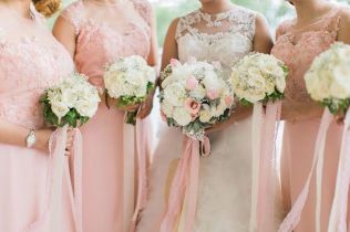 Blush & White Bouqets for Rica and Her Ladies // photo by Marlon Capuyan