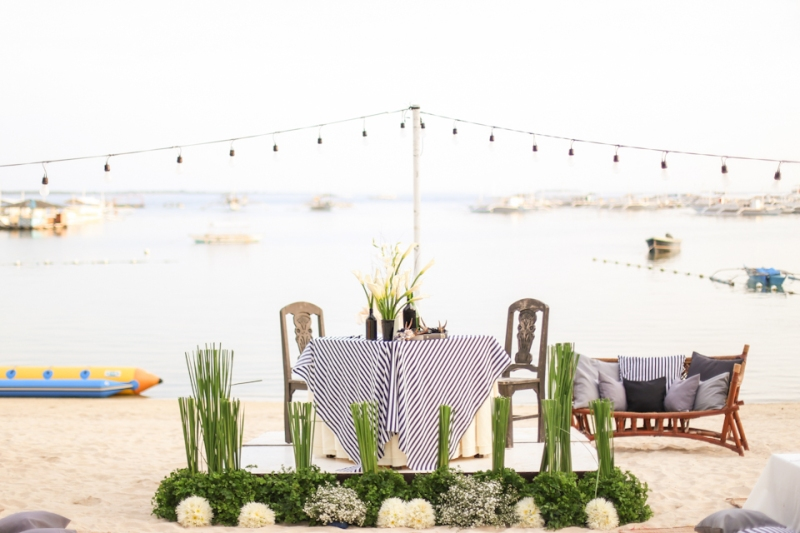 Cuckoo Cloud Concepts King Jumax Wedding Cebu Event Stylist Black and White Beach -1