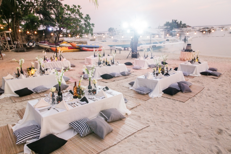 Cuckoo Cloud Concepts King Jumax Wedding Cebu Event Stylist Black and White Beach -12