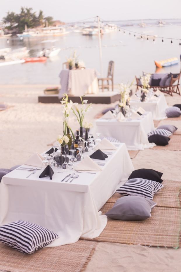 Cuckoo Cloud Concepts King Jumax Wedding Cebu Event Stylist Black and White Beach-15