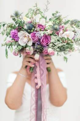 Lush and Rustic Hand-tied Bouquet for Jelly // Photo by Rock Paper Scissors Photography
