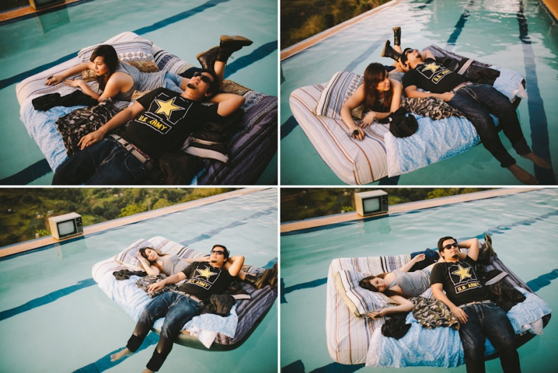 Cuckoo Cloud Concepts Owen Blance Engagement Grunge Inspired Swimming Pool Quirky Outdoor Cebu Wedding Stylist-49