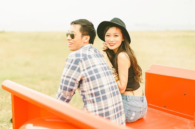 Cuckoo Cloud Concepts Franz Sherry Engagement Session Red Truck Bohemian Road Trip Cebu Stylist-10