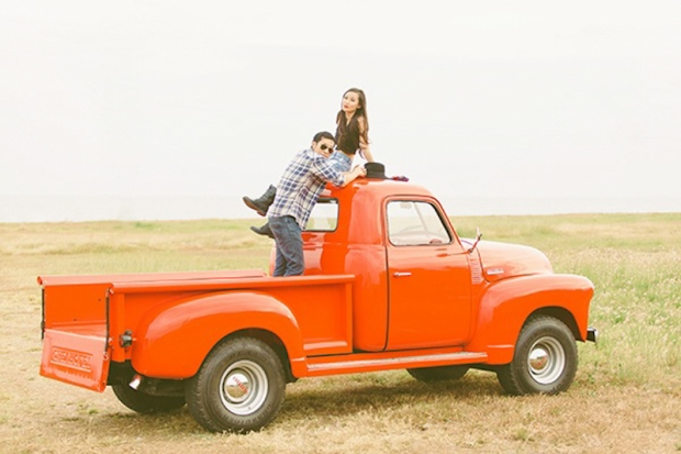 Cuckoo Cloud Concepts Franz Sherry Engagement Session Red Truck Bohemian Road Trip Cebu Stylist-13