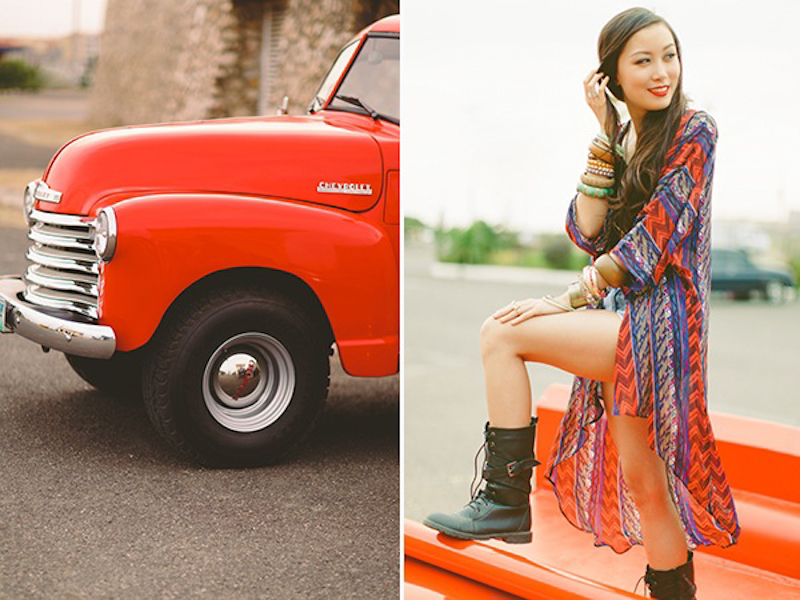 Cuckoo Cloud Concepts Franz Sherry Engagement Session Red Truck Bohemian Road Trip Cebu Stylist-16