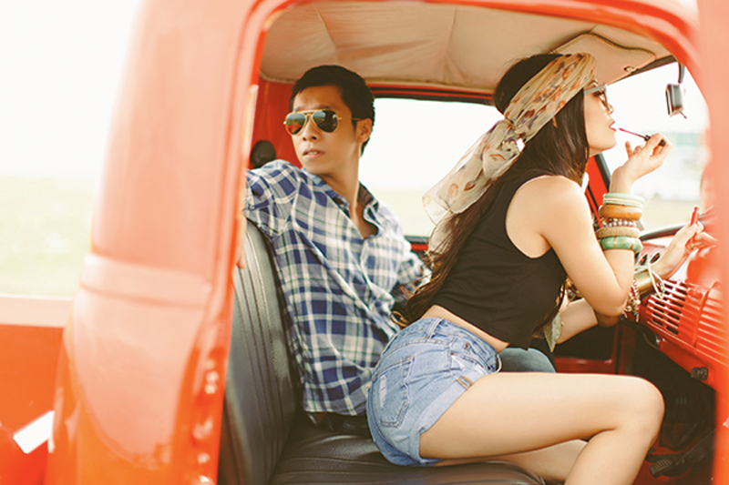 Cuckoo Cloud Concepts Franz Sherry Engagement Session Red Truck Bohemian Road Trip Cebu Stylist-19