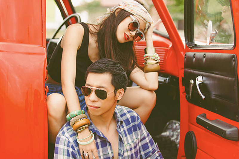 Cuckoo Cloud Concepts Franz Sherry Engagement Session Red Truck Bohemian Road Trip Cebu Stylist-20