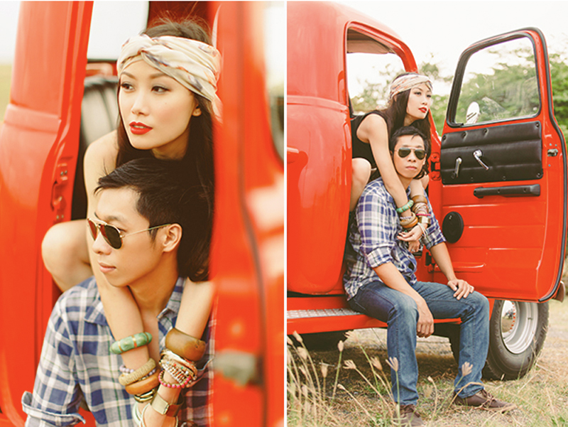 Cuckoo Cloud Concepts Franz Sherry Engagement Session Red Truck Bohemian Road Trip Cebu Stylist-21