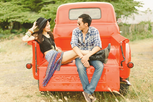 Cuckoo Cloud Concepts Franz Sherry Engagement Session Red Truck Bohemian Road Trip Cebu Stylist-22